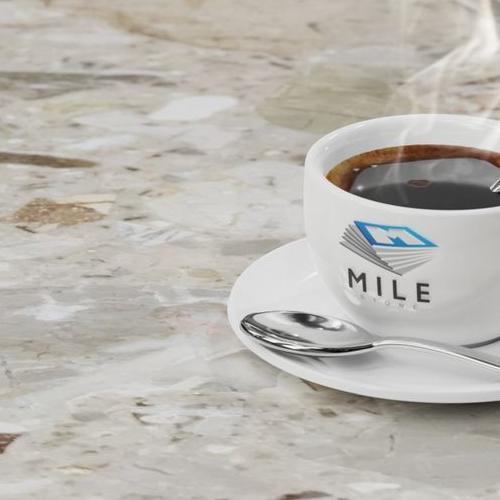 AGLOMARMUR BRECCIA AURORA - filiżanka kawy