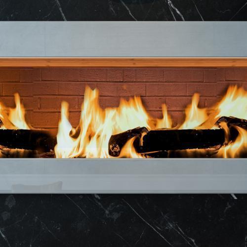 ogień palący się w kominku